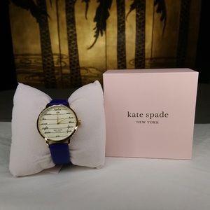 NWT Kate Spade NY Metro Three-Hand Gold-Tone Watch